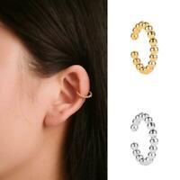 Geometrische Perle Kristall Ohrclip Manschette Wrap Ohrringe Frauen Schmuck S2S9