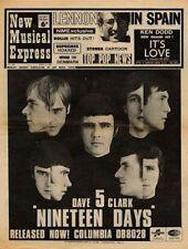 Dave Clark Five Nineteen Days UK '45 Advert 1966