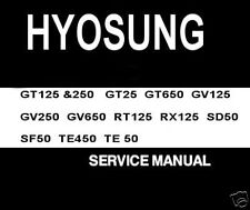 HYOSUNG WORKSHOP SERVICE MANUALS + owners manuals CD