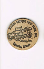 Wooden Nickel Illiana Antique Auto Club, Inc. Denville, IL FREE SHIPPING