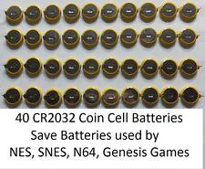 X40 NES, Super Nintendo (SNES), N64, Sega Genesis Save Game Batteries CR2032 Tab