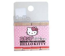 Sanrio Hello Kitty 4 Design Wooden small Stamps (4pcs) : Kawaii