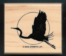 STORK MOON Wading Water Bird Exotic Bird TROPICAL Stampin' Up! wood RUBBER STAMP