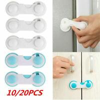 Child Baby Cupboard 10/20PCS Cabinet Safety Locks Proofing Door Drawer Fridge