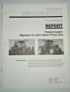 Case IH Magnum vs John Deere 77/7810 Tractor Product Information Brochure Manual