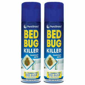2 X Bed Bug / Fleas / Mites / Lice / Ticks Killer Spray Peat control 200ml cans