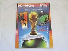 1994 WORLD CUP USA OFFICIAL GAMEDAY PROGRAMME   BOSTON EDITION