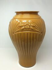 Vintage Art Deco Vase Umbrella Stand Large Tall Butterscotch Cased Glass