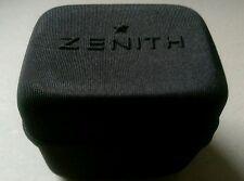 ZENITH in tessuto nero Orologio Storage / TRAVEL BOX. Cerniera Laterale, Cuscino interno.
