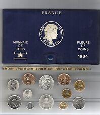 FRANCE coffret FDC fleur de coin 1984 série des monnaie francaises 1984
