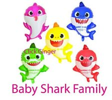 Baby Shark Shaped Balloon Daddy Mummy Shark Grandpa Grandma Helium Balloons Doo