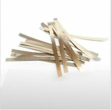 100Pcs 0.1x4x100mm Nickel Plated Steel Strap Strip Sheets for battery weld