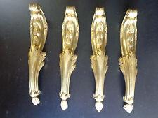 4 anciens bronzes  d'ameublement ,chutes d' encoignures de table  LouisXV