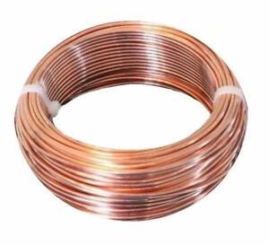 8 GA Bare Copper Round Wire 99.9% Pure ( Dead Soft ) 5 - 15 - 25 Ft Coil