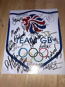 Team GB Crest Signed