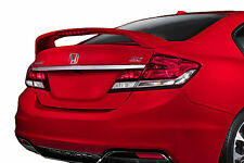 PAINTED REAR WING SPOILER FOR A HONDA CIVIC SI 4-DOOR FACTORY STYLE 2013-2016