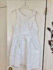 Yoana Baraschi Size 10 White Cotton Above the Knee Fit & Flare Dress