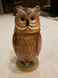 VINTAGE HANDPAINTED OWL STEIN AA IMPORTING CO.  MADE IN JAPAN