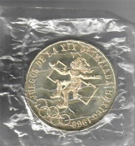 Mexico 1968 25 Pesos Olympic Silver Coin .52+ oz silver weight BU
