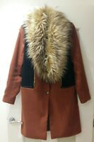 River Island Womens Coat With Removable Fur Size 12 Beautiful