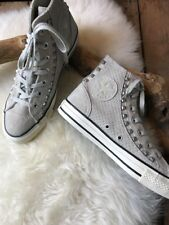 Converse Women's  All Star Grey Suede Riveted Limited Edition High Tops 8 AB20