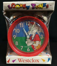 Vtg 1994 Looney Tunes Bugs Bunny Westclox Alarm Clock Twin Bell Baseball as Is