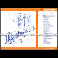 CYCLO PEUGEOT 101 : Fiche Technique Carburateur GURTNER D 10 G 706 719 733 #FT27