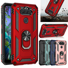 For LG Phoenix 5/Risio 4/Fortune 3 Case Ring Holder Stand Hybrid TPU Phone Cover