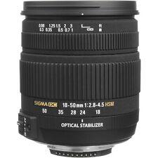 Sigma DC 18-50mm f/2.8-4.5 Aspherical OS HSM Lens for Nikon Cameras-New