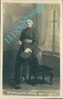 WW1  Royal Marine Artillery man Studio Shot By Barkshire Bros Southsea RPPC