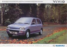 Subaru Vivio GLi 4WD 1992-93 Original UK Sales Brochure Pub. No. SB003