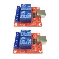 USB Relay Control Module 2 channel Computer Control 5V Relay Shield 2PCS