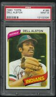 1980 Topps Dell Alston Cleveland Indians #198 PSA 9 MINT SET BREAK