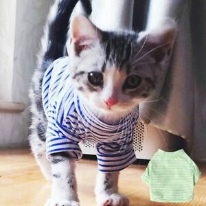 Striped Costumes Puppy Outfit Pet Clothing Cat Jacket Dog Supplies Dog  Clothes