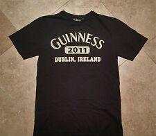 x  CLEARANCE! Guinness Short Sleeve Dublin Graphic Tee Shirt Cotton Black M