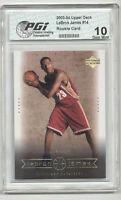 2003 Upper Deck LeBron James PGI 10 Lakers Rookie Card #14