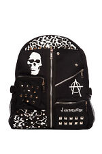JAWBREAKER SKULL TARTAN LEOPARD BACKPACK RUCKSACK BG3586 ALTERNATIVE SCHOOL BAG