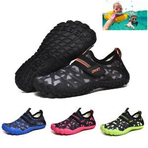 Kids Water Shoes Aqua Shoes Diving Socks Pool Beach Swim Slip On Wetsuit Surf UK