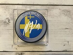 Andreas Englund Signed Autographed Team Sweden Hockey Puck a