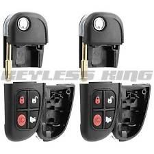 2 Keyless Entry Car Remote Shell Case and Flip Key Fob Top For Jaguar NHVWB1U241