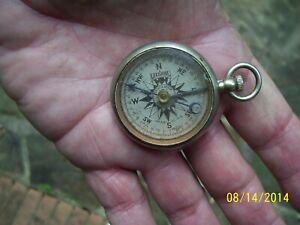 Antique 1915 LEEDAWL Short & Mason Taylor Pocket Compass, WW1, Works