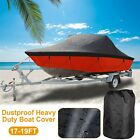 17-19FT 210D Waterproof Boat Cover Trailerable Heavy Duty V-Hull Boat Protector
