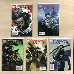 Marvel 2005 WOLVERINE SOULTAKER Comic Book Issue #1 2 3 4 5  Complete Series 1-5