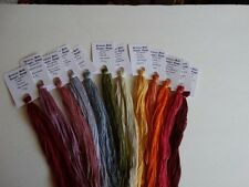 Southern Appalachian Wildflowers ,over dyed floss GIFT BOXED! 12 skeins) 240 yds
