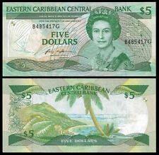 East Caribbean States 5 DOLLARS Grenada P 18g UNC OFFER !