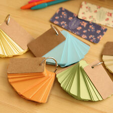 Portable Random Color Buckle Binder Notes Flash Cards Memo Pads DIY Blank Card