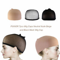 7pcs Wig Cap Wig Liner Wig Stocking Cap Black  Neutral/Beige Mesh Nylon Stretch