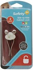 Safety 1st Side by Side Cabinet Lock 2 Pack - Safety First - New and Sealed