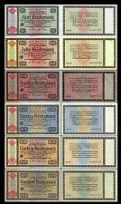 Konversionskasse für deutsche Auslandsschulden 5-100 RM - Ausg. 1934 - P207-212