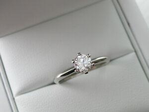 Diamond Engagement Ring. PLATINUM. LAB REPORT. Secret Personalised Message xxx